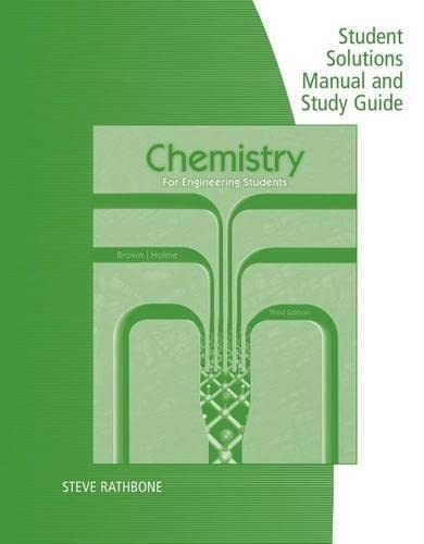 9781285845241: Student Solutions Manual with Study Guide for Brown/Holme's Chemistry for Engineering Students, 3rd