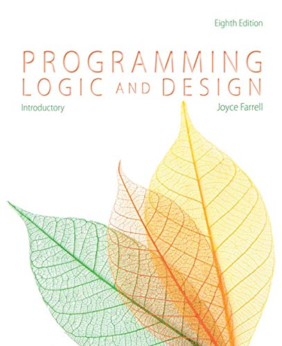 9781285845777: Programming Logic and Design, Introductory