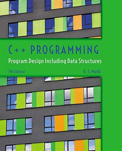 9781285852751: C++ Programming: Program Design Including Data Structures
