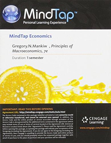 9781285853345: MindTap Economics Printed Access Card for Mankiw's Principles of Macroeconomics, 7th