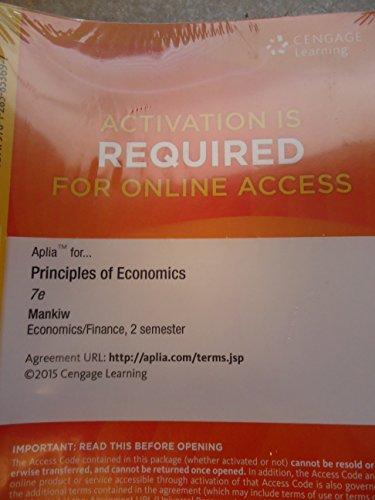 9781285853697: Principles of Economics - Aplia 2 Semesters Access - 7th edition