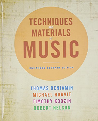 9781285854441: Techniques and Materials of Music