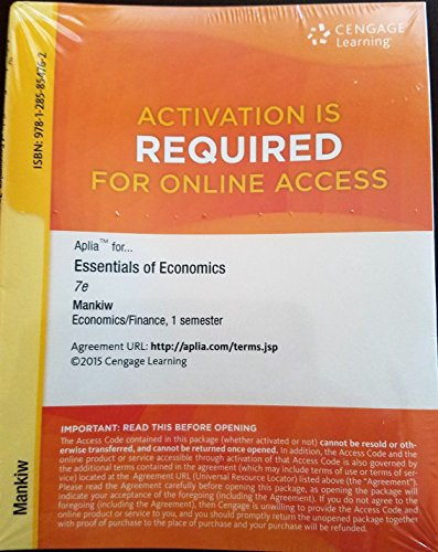 9781285854762: Aplia for Essentials of Economics 7e - 1 semester