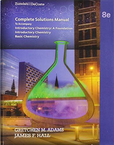 9781285858142: Complete Solutions Manual, Introductory Chemistry: A Foundation, Introductory Chemistry, Basic Chemistry, Eighth Edition, Steven S. Zumdahl, Donald