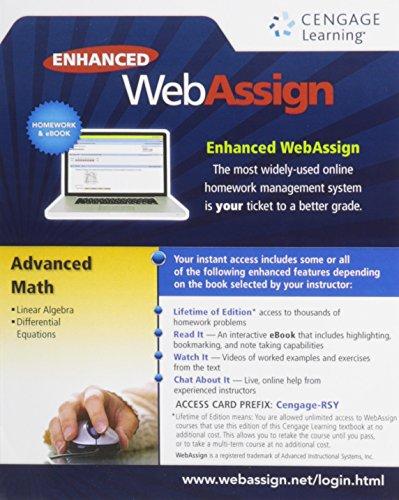 9781285858296: ADVANCED MATH WEBASSIGN-ACCESS