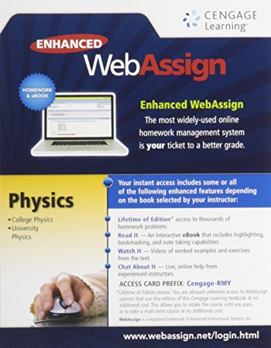 Enhanced WebAssign College Physics Access Card (One