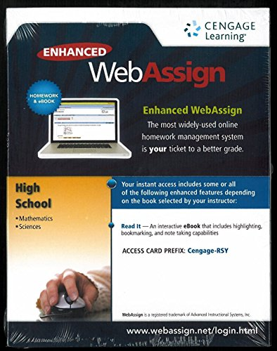 High School : Math. and Science: Webassign