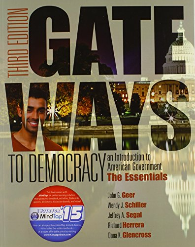 9781285858579: Gateways to Democracy: The Essentials (Book Only) (I Vote for MindTap)