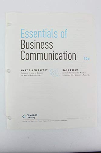 9781285858890: Essentials of Business Communication Tenth Edition