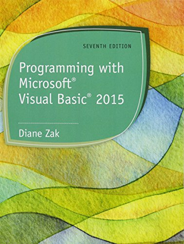 9781285860268: Programming With Microsoft Visual Basic 2015