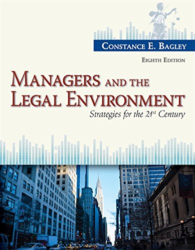 9781285860374: Managers and the Legal Environment: Strategies for the 21st Century