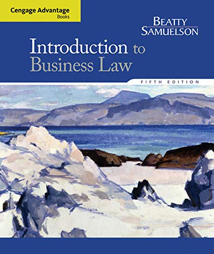 9781285860398: Cengage Advantage Books: Introduction to Business Law
