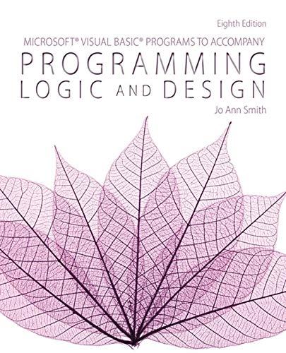 9781285867397: Microsoft Visual Basic Programs to Accompany Programming Logic and Design