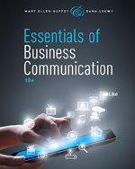 9781285868134: I.e. Essentials of Business Communication 10th.edition