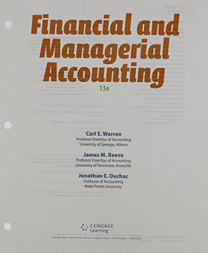 9781285868776: Financial & Managerial Accounting