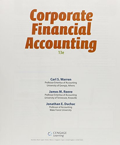 9781285868790: Corporate Financial Accounting