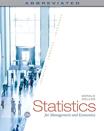 9781285869643: Statistics for Management and Economics, Abbreviated