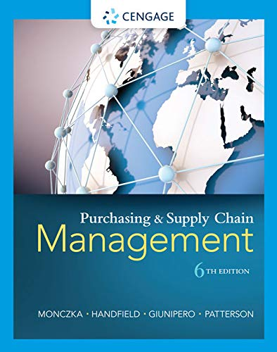 Purchasing and Supply Chain Management: Monczka, Robert M.,