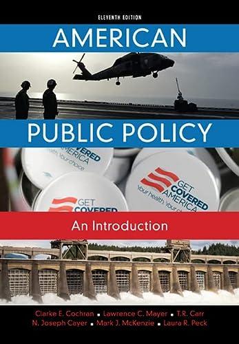 American Public Policy: Cochran, Clarke E./