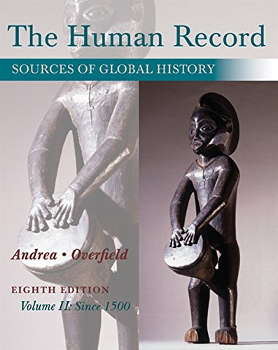 9781285870243: 2: The Human Record: Sources of Global History, Volume II: Since 1500