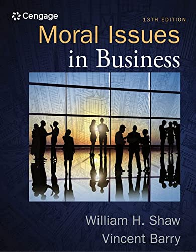 Moral Issues in Business: Barry, Vincent, Shaw,