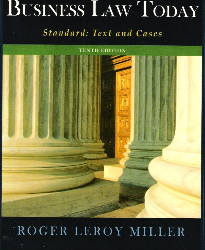 9781285874753: Business Law Today Standard: Text and Cases 10th (tenth) edition
