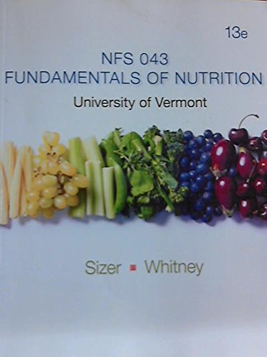 9781285879451: NFs 043: Fundamentals of Nutrition (University of Vermont)
