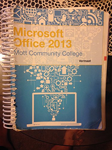 9781285880228: Microsoft Office 2013: Introductory (Mott Community College Edition)