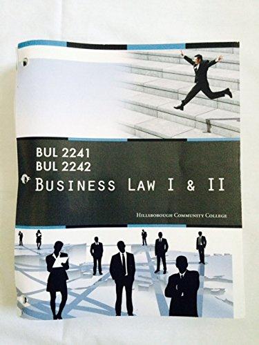 9781285884240: Business Law I & II (BUL 2241/BUL 2242): for Hillsborough Community College