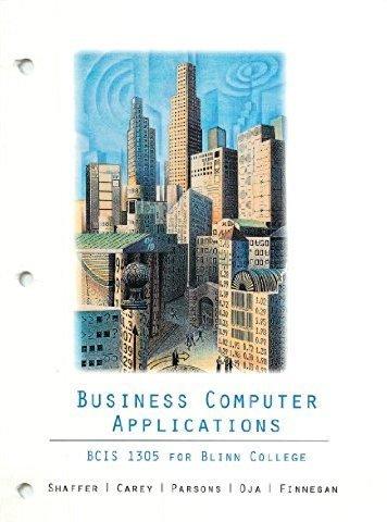 9781285888330: Business Computer Applications BCIS 1305 Blinn Edition