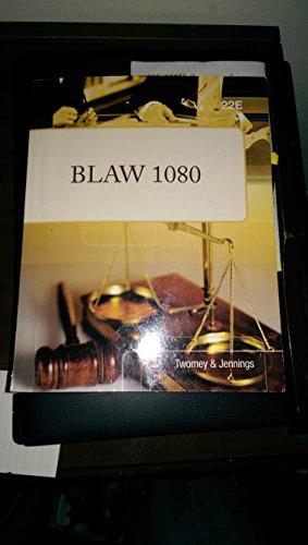 9781285889108: BLAW I (Custom) Edition: 22nd
