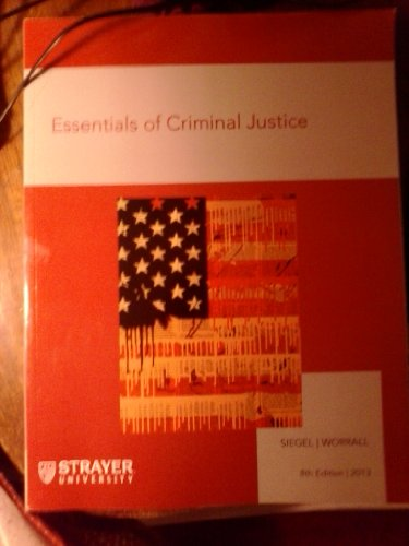 9781285890500: Essentials of Criminal Justice