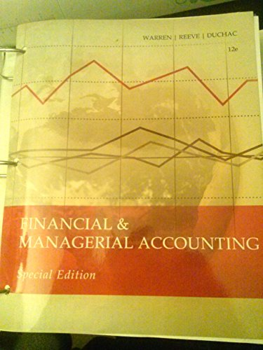 9781285890623: Financial & Managerial Accounting 12e (MSJC Edition)