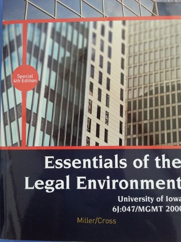 9781285892399: Essentials of the Legal Environment