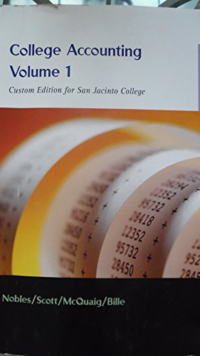 9781285892559: College Accounting Volume 1