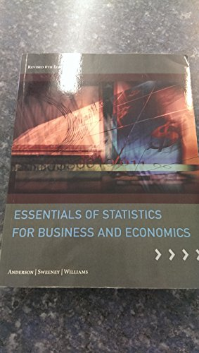 Essentials of Statistics for Business and Economics: anderson