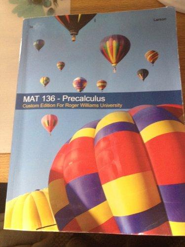 9781285892955: MAT 136 - Precalculus