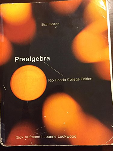 9781285893303: ACP Prealgebra Rio Hondo College with Student Solutions Manual