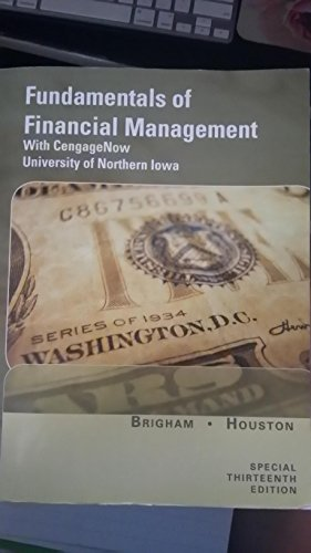 9781285893471: Fundamentals of Financial Management Special 13th Edition University of Northern Iowa