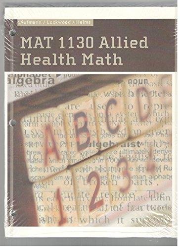 ACP MAT 1130 ALLIED HEALTH MAT: Richard N. Aufmann
