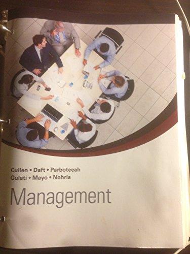 9781285894782: Management (U MN Custom Loose Leaf)