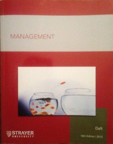 9781285894867: Management 10th ed (Strayer University)