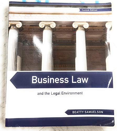 9781285895031: Business Law and the Legal Environment