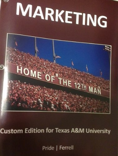 9781285895321: Marketing: Custom Edition for Texas A&M University 17th Edition
