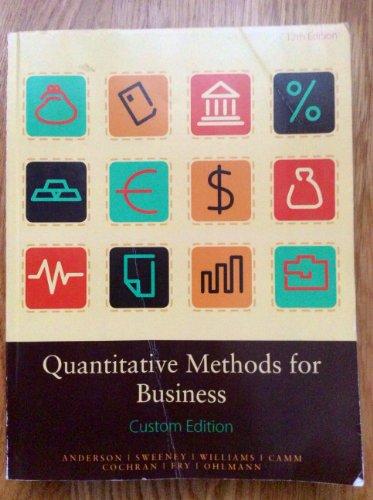 9781285898957: Quantitative Methods for Business Custom Edition - Pace University