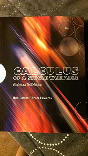 9781285900995: Calculus of a Single Variable Select Edition