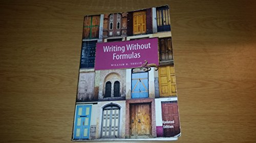 writing without formulas: William E. Thelin