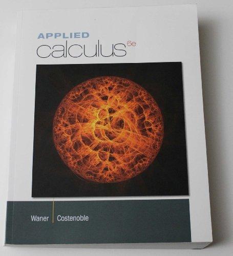 9781285902418: APPLIED CALCULUS >CUSTOM<