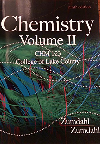9781285903576: Chemistry Vol II (CHM 123 College of Lake County)
