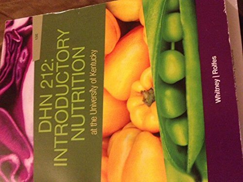 9781285904191: DHN 212: Introductory Nutrition At the University of Kentucky